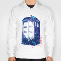 tardis Hoodies featuring Tardis by lauramaahs