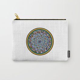 Free Hand Mandala in Circles Carry-All Pouch