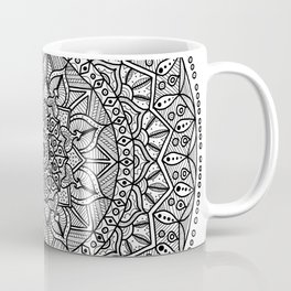 Circle of Life Mandala Black and White Coffee Mug