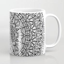Circle of Life Mandala Black and White Coffee Mug