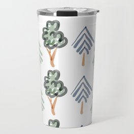 Tiny Forest | Green and Blue Trees Travel Mug