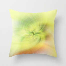 Background of yellow and green swirling flower texture Throw Pillow