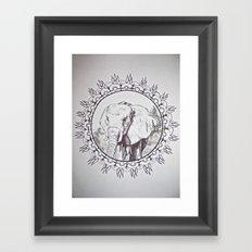 India Elephant Framed Art Print