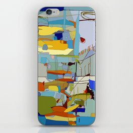 Reimagining Series - The Year I Caught a Fish - Marine Pop Art Landscape - Summer Blues and Yellows iPhone Skin