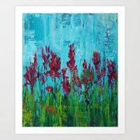 Late Summer Flowers Art Print