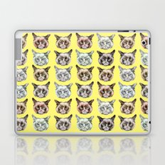 Cats Cats Cats on Yellow Laptop & iPad Skin
