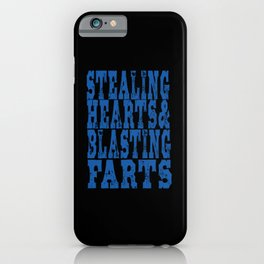 Stealing Hearts Blasting Farts iPhone Case
