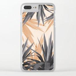 Orange Tropics Clear iPhone Case