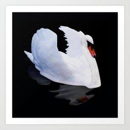 Dreamy swan Art Print