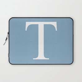 Letter T sign on placid blue background Laptop Sleeve