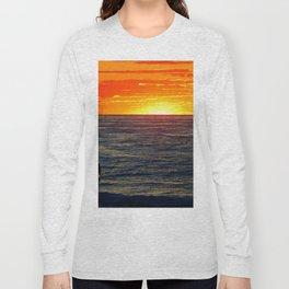 Paddle Boarding at Sunset Long Sleeve T-shirt