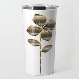 Nature Flower Gold Look Travel Mug