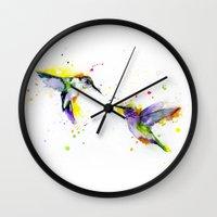 hummingbird Wall Clocks featuring Hummingbird  by Slaveika Aladjova