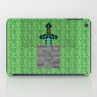 sword iPad Cases featuring Diamond Sword by VineDesign