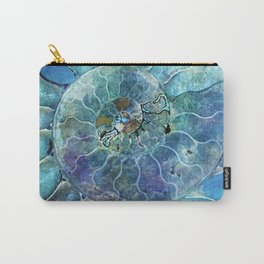 Aqua seashell - mother of pearl - Beautiful backdrop Carry-All Pouch