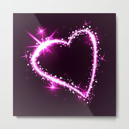 Sparkling heart Metal Print