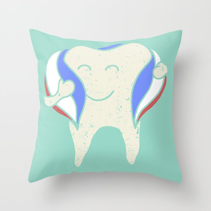 Minty Fresh Throw Pillow