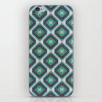 kilim iPhone & iPod Skins featuring Pistachio Persian Kilim by Katayoon Photography