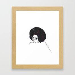 Laura Harrier - Stars and Galaxy Framed Art Print