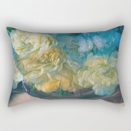 Vintage Still Life Bouquet Decor by OLena Art  Rectangular Pillow