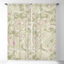 batik paisley warm Blackout Curtain