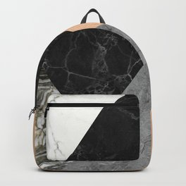 Marble and Wood Abstract Backpack