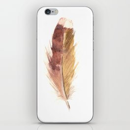 Sepia Feather iPhone Skin