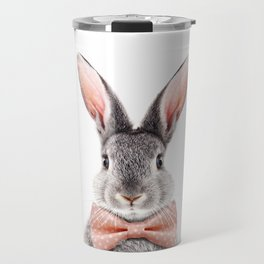 Baby Rabbit With Bow Tie, Baby Animals Art Print By Synplus Travel Mug