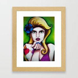One kiss Framed Art Print