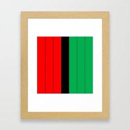 Kwanzaa Red Black Green Stripes Framed Art Print