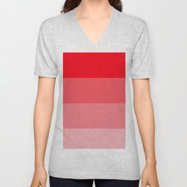 Red Ombre Coloured Unisex V-Neck