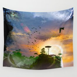 The Architect Of Time Wall Tapestry