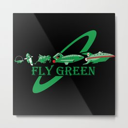 Fly Green Metal Print