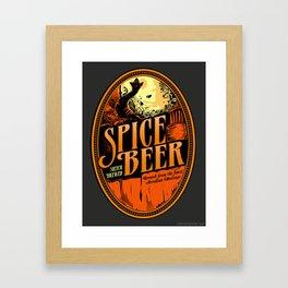 Spice Beer Label Framed Art Print