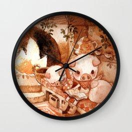 3 Little Pig Wall Clock