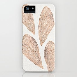 Cicada Wings in Rose Gold iPhone Case