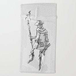 somedude_with_stick Beach Towel