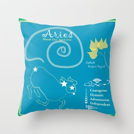 Aries March Throw Pillow