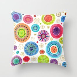 festive flowers Throw Pillow