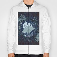 Surfing, surfboard with flowers Hoody
