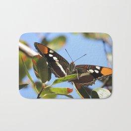 California Sister Butterfly on Oak Leaves Bath Mat