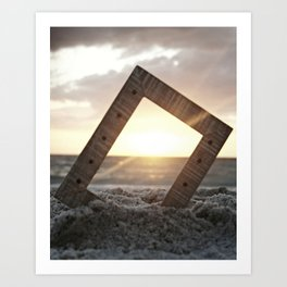 Picture Perfect Beach  Art Print
