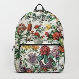 Adolphe Millot - Fleurs C - French vintage poster Backpack