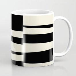 BW Oddities II - Black and White Mid Century Modern Geometric Abstract Coffee Mug