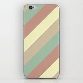 Natural Diagonal Stripe Pattern iPhone Skin