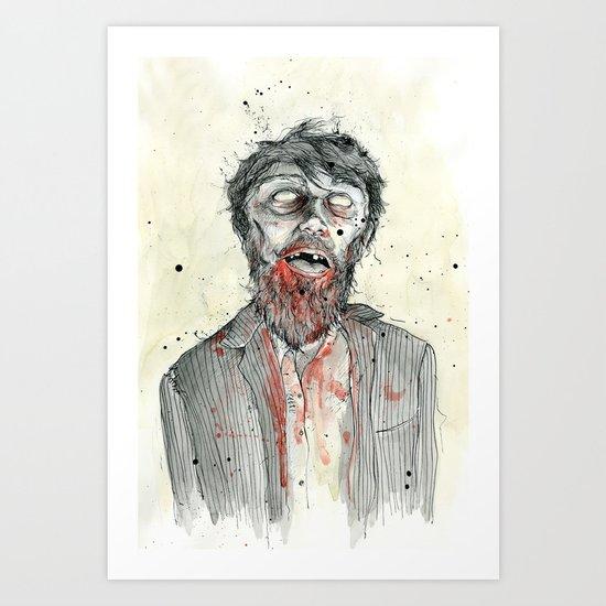 Zombie! Art Print