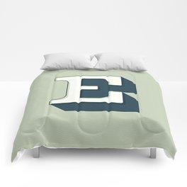BOLD 'E' DROPCAP Comforters