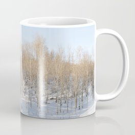 Snowfall and treetops Coffee Mug