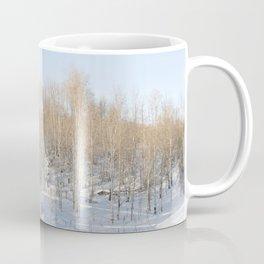 Snowfall and treetops Coffee Mug