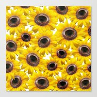 sunflowers Canvas Prints featuring Sunflowers by Regan's World